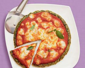 Frittapizza margherita agli spinaci