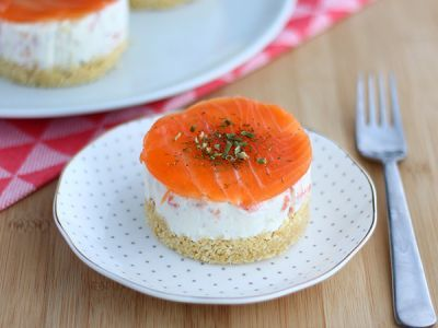 Mini cheese cake salata al salmone