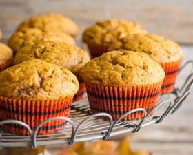 Muffin di zucca e mela
