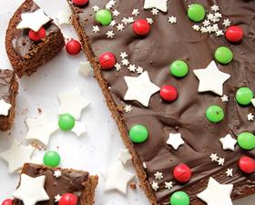 Torta al cioccolato di Natale