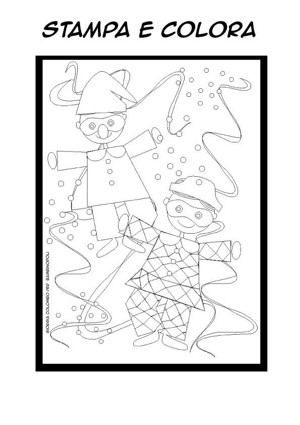 Disegni Da Colorare Carnevale Bambinopoli