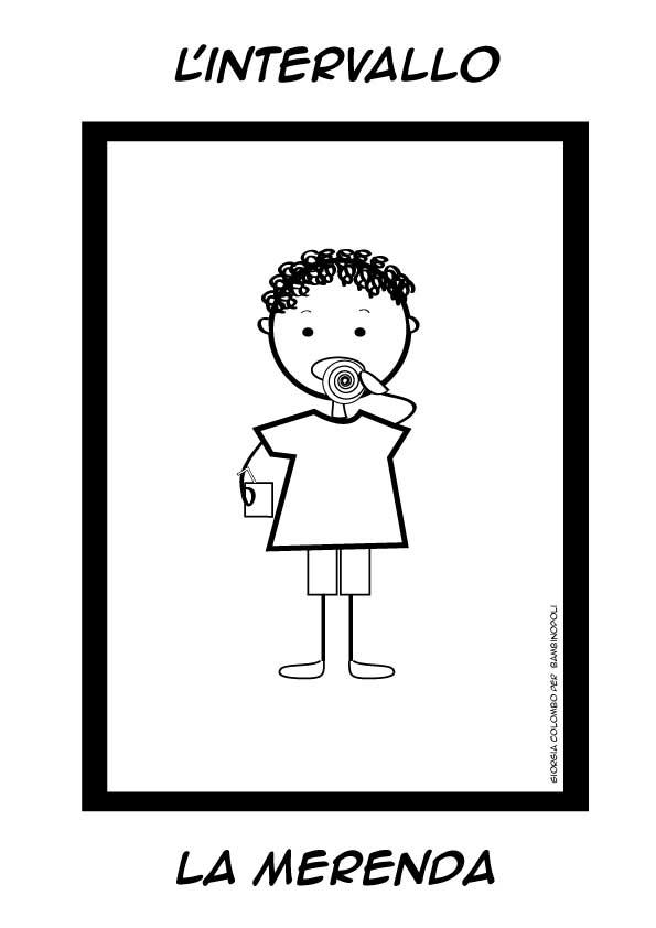 Clicca e stampa il disegno - Indietro a scuola foglio da colorare ...
