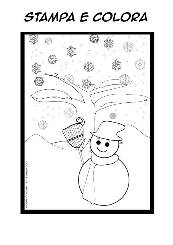 Inverno Da Colorare E Stampare