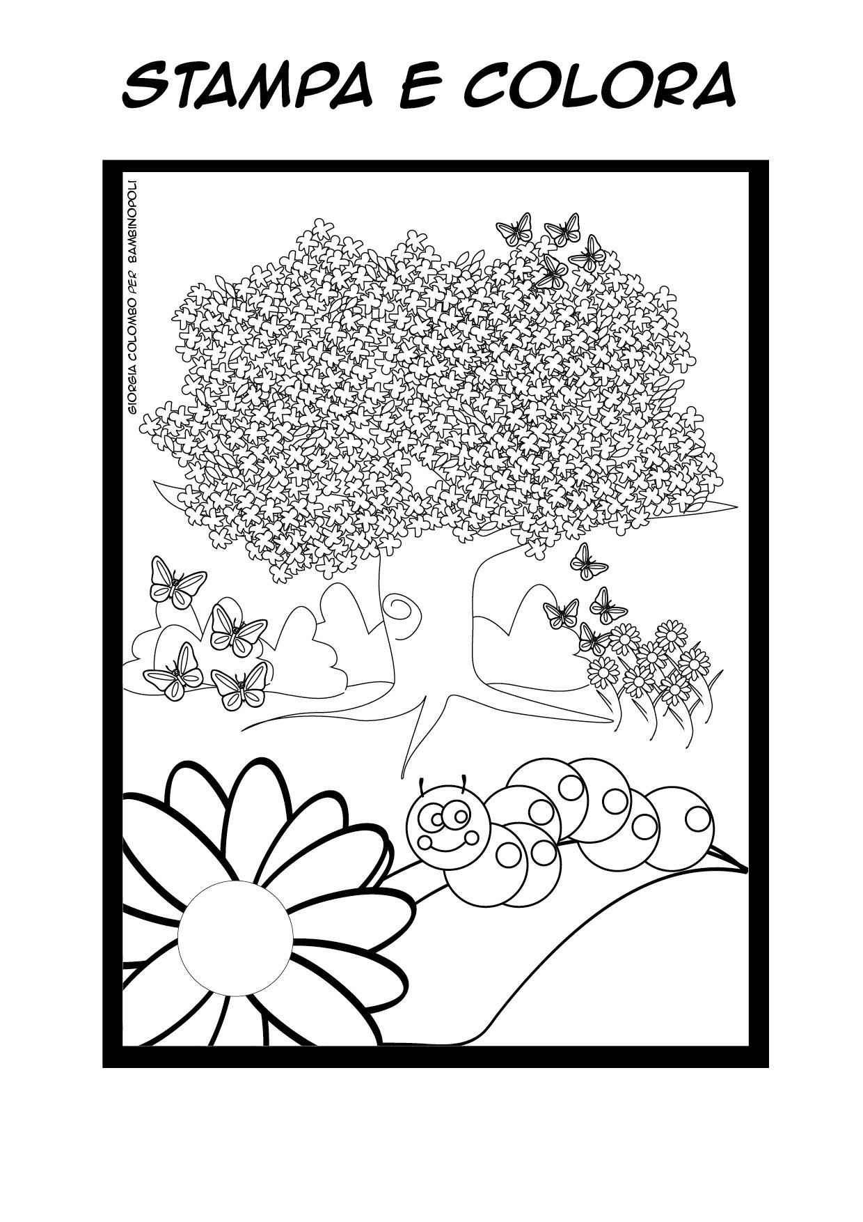 Clicca e stampa il disegno for Immagini sulla primavera da stampare e colorare