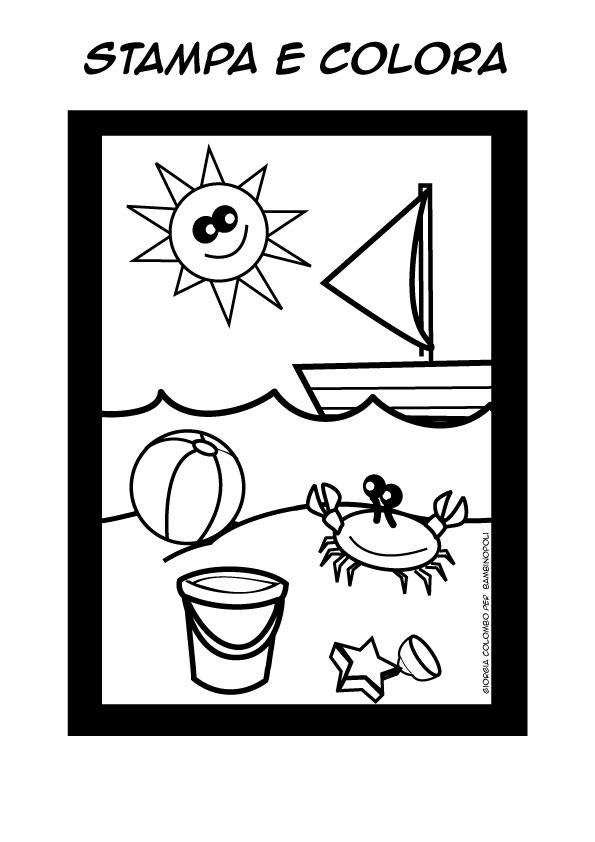 Clicca e stampa il disegno for Disegni di mare da colorare