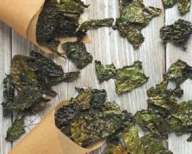 Chips di cavolo nero al forno