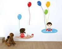 Wall stickers per bambini i disegni dello studio luka for Decorare pareti stanza bambino